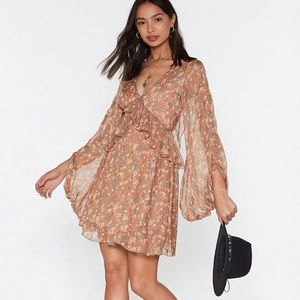 Nasty Gal Swing to the Music Floral Mini Dress